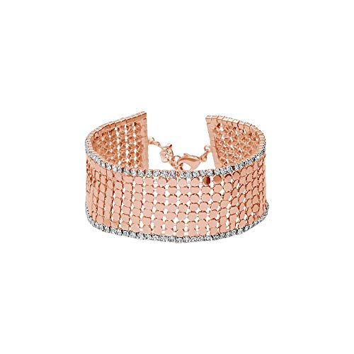 Stroili - Bracciale con strass in metallo rosato per Donna