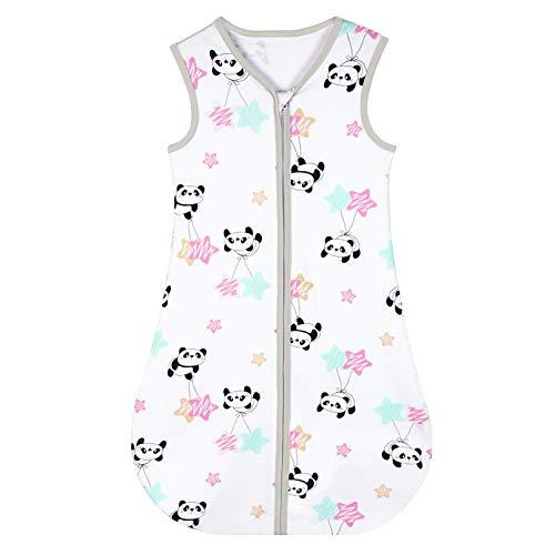 Yoofoss Schlafsack 100% Baumwolle Baby Schlafsack 90x55cm Panda-Muster Babyschlafsack Neugeborene im 18-36 Monaten