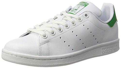 Adidas Stan Smith W, Zapatillas para Mujer, Blanco (Ftwbla/Ftwbla/Verde), 37 1/3 EU
