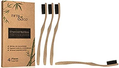 Fifth & Eco Charcoal Bamboo Toothbrush - Adult