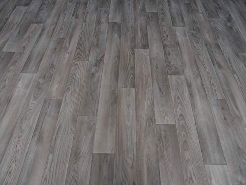 PVC Bodenbelag in matt glänzendem Holzdesign (9,95€/m²), Zuschnitt (2m breit, 1m lang)