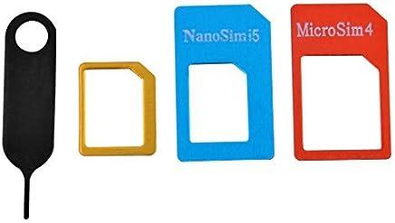eDealMax Bandeja de tarjeta SIM La eliminación del eyector de expulsión de la aguja Prendedor adaptador