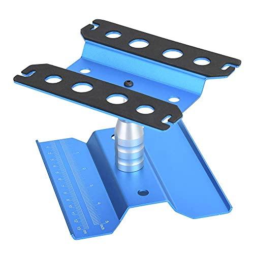 Dilwe RC Autoständer, RC Car Stand, - Alu - Mit Gummipad - Chassis schützen - 360° Rotation - Höhenverstellbar - für 1/8 1/10 1/12 RC Auto (Blau)