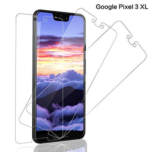SNUNGPHIR® Cristal Templado Google Pixel 3 XL, [3-Pack] Protector Pantalla Google Pixel 3 XL Vidrio Templado [2.5d Borde Redondo] [9H Dureza] [Alta Definición] [Anti-Arañazos/Huella Digital]
