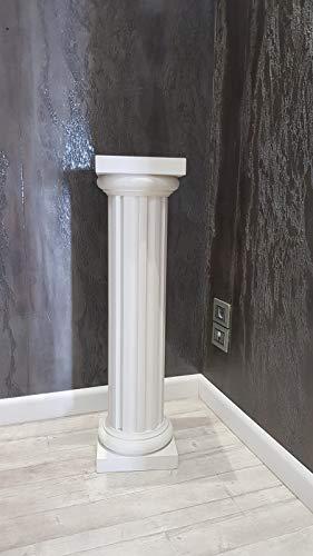 M.Service Srl Columna de rayas blancas de poliuretano – Ideal como decoración y jardinera (100 cm...