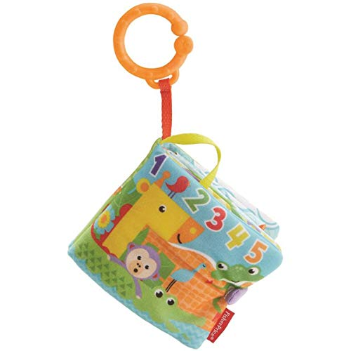 Fisher-Price-FGJ40 Libro activity bebé, juguetes educativos, multicolor, (Mattel FGJ40)