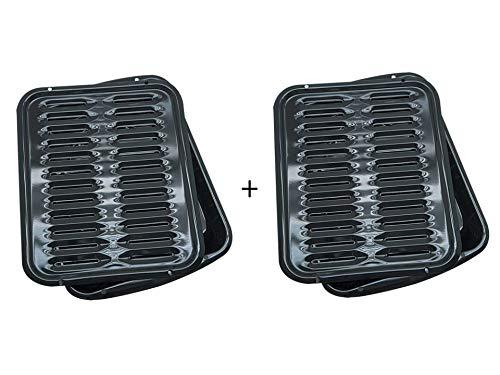 Range Kleen Oven Broiler Pan With Rack 16 x 12.5 x 1.6' (2-PACK)