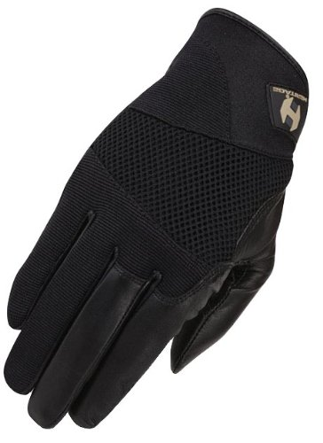 Heritage Tackified Polo Gloves, Size 10, Black