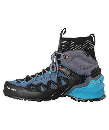 Salewa Wildfire Edge GTX Mid Hiking Boot - Women's Poseidon/Grisaille, 8.5