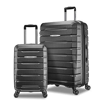 Samsonite Tech 2.0 Hardside Expandable Luggage with Spinner Wheels Dark Grey 2-Piece Set  21/27