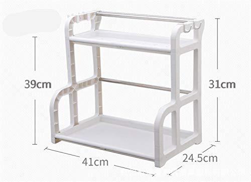 BIANJESUS Cocina Rack Holder Inicio Acero Inoxidable Almacenamiento De Plástico Spice Rack...