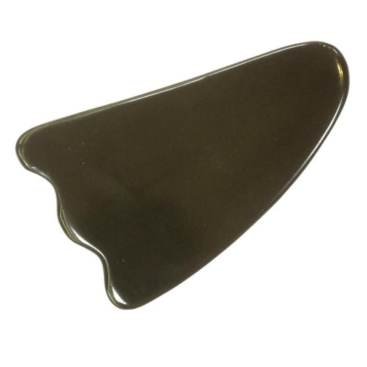 カップミリメートルからかっさ プレート 厚さが選べる 水牛の角(黒水牛角) EHE213SP 羽根型 特級品 厚め(7ミリ程度)