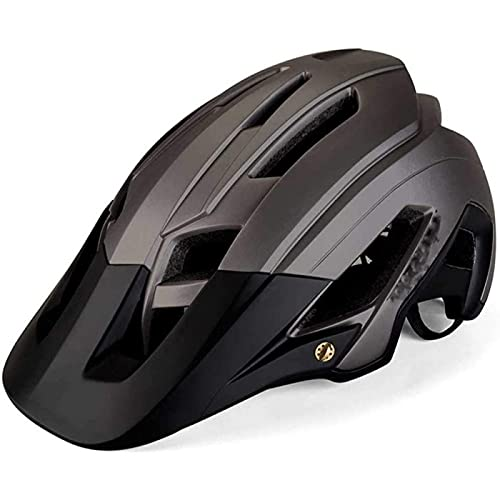 SONG Mountain Bike Helmet, Easy Attached Comfortable Lightweight Breathable Adjustable head circumference Anti-Shock Anti-Fall For Road Mountainn Cycling Adult Men Women,E