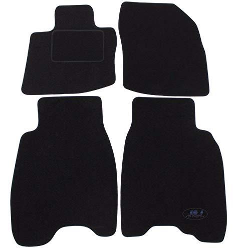J&J AUTOMOTIVE | Tapis de Sol Noir Velours Compatible avec Honda Civic 3/5 Porte 2006-2012 4 pcs