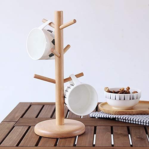 GEEN BAND Japanse Stijl Keuken Huishoudelijke Houten Cup Houder Effen Hout Mok Ophangbeker Houder Koffie Cup Houder Cup Houder Opslag Rack