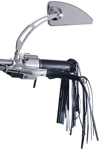 Customacces PF0003N Puños Tipo Indian Funda con Flecos para Puños, 25 cm, Color Negro