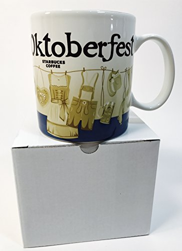 Starbucks ICON Oktoberfest Octoberfest 2017 Munich City Collector Coffe Tea Mug 16 Oz Cup Germany Bavarian NEW with SKU & Box