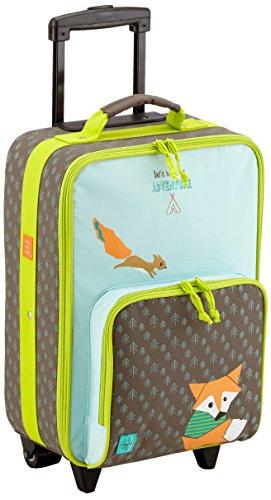 LÄSSIG Kinderkoffer/ Trolley Kindergepäck/ Reisekoffer mit Teleskopgriff und Rollen/Kids Trolley, little tree fox