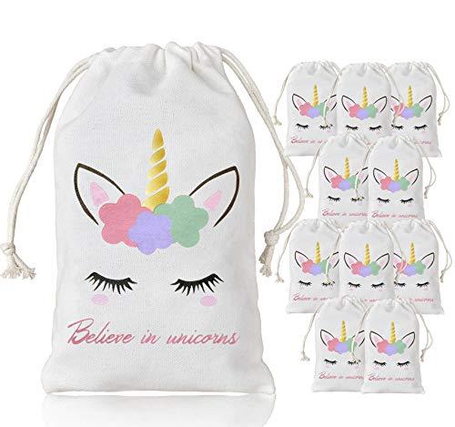 """Kreatwow Unicornio para Bolsos de Regalos para niños decoración para Fiesta de cumpleaños Baby Shower 10 Pack 5 × 8"""""""