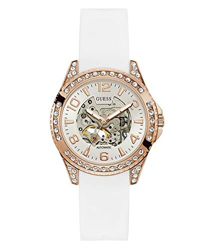 GUESS Reloj Analógico para Mujer de Automático con Correa en Silicona W1239L3