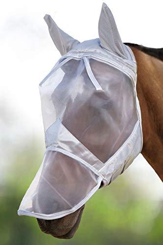 Harrison Howard CareMaster Pro Máscara Anti-Moscas Protección con Orejas y Nariz Plata (L; Full Size)