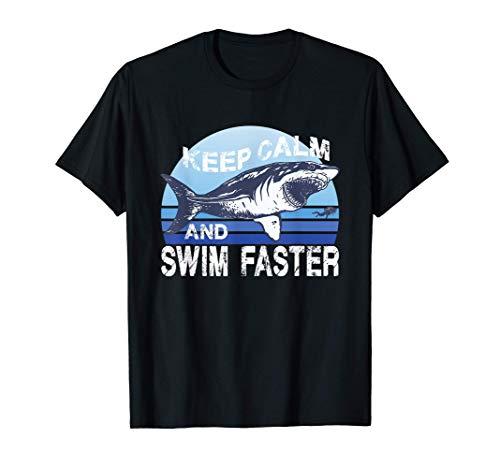 Megalodón Swim Faster Tiburón gigante Shark Lover Buceador Camiseta
