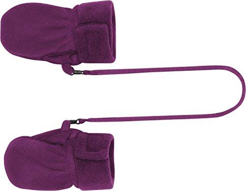 Playshoes Unisex Fäustlinge Kuschelweiche Fleece-Handschuhe, Baby Fäustel, Oeko-Tex Standard 100, Einfarbig, Gr. One Size (Herstellergröße: 0-6 Monate), Violett (Lila 19)