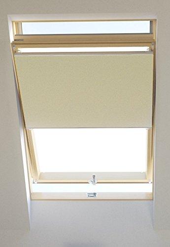 Vidella Dachfenster Thermoplissee thermolux universal passend 67 cm, creme, HCB-3 67