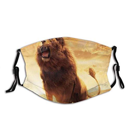 Brave Lion - Pasamontañas ajustables lavables y reutilizables para unisex, con 2 filtros