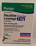 Perrigo Nicotine Polacrilex Mini Lozenge, 2mg Stop Smoking Aid, Mint Flavor, 81 Lozenges