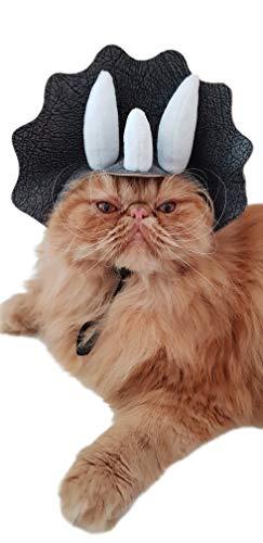 Glamour Girlz Sombrero para disfraz de dinosaurio de perro pequeo y gato, color gris