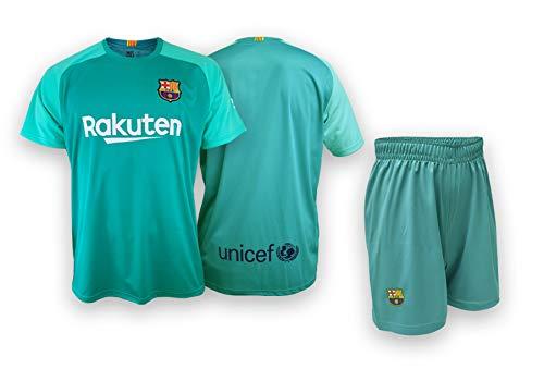 Conjunto Camiseta y pantalón Portero Replica FC. Barcelona 2019-20 - Producto con Licencia - Dorsal Liso - 100% Poliéster – Talla niño 12 años