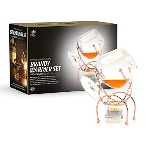 Bar Amigos - Calentador de brandy y coñac con velas de té,...