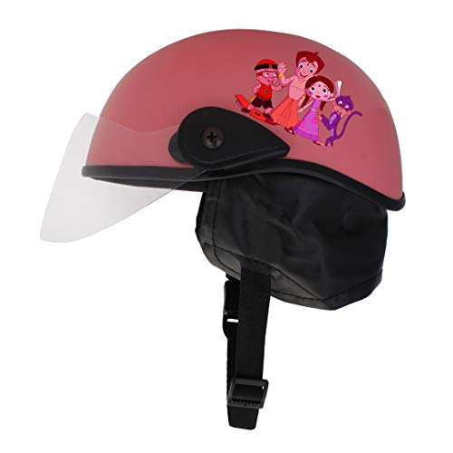 Sage Square Adjustable'Chota Bheem' Helmet for Kids Baby Safety and Comfort (3-12 Years) (Pink Matte)