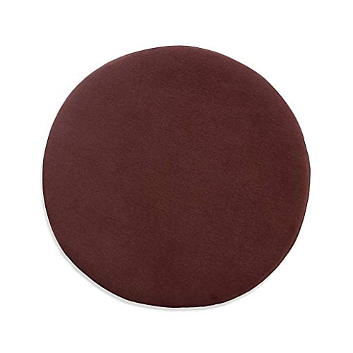 YUMYANY Round Tatami Seat Cushion, Portable Cushion with Washable Cover Comfort Softness Japanese-style Chair Cushion Suitable for School Office Home-diameter:35cm(14inch)-Brown