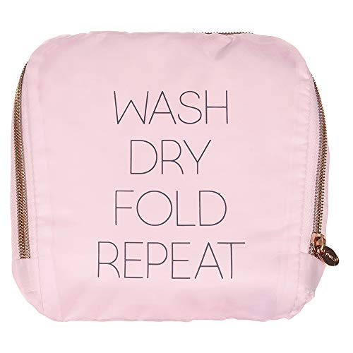 Miamica Travel Laundry Bag Wash Dry Fold Repeat Pink One Size