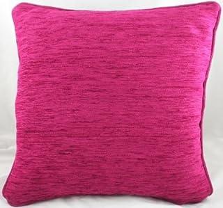 Homestreet Cushions Savannah Coussin en Chenille-Canneberge Grand format 56 x 56 cm