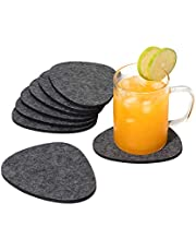 chillify Felt Pebble Coasters for Drinks - Non Slip Hittebestendige Wasbare Coaster Sets - Drie Shades of Grey - Absorbent Non Stick Drink Coasters voor cups, tuin, bier, tafel, enz.