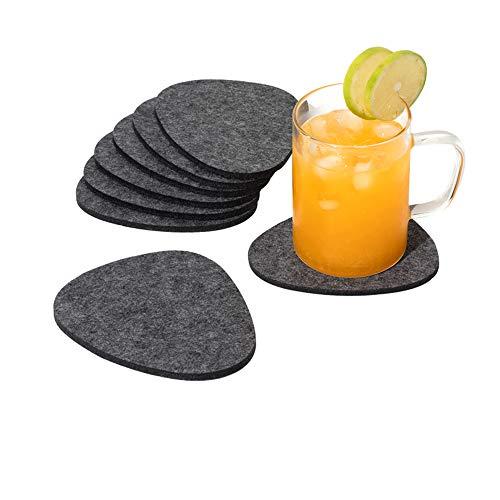 chillify Filz-Untersetzer für Getränke, Stein-Design, 8er-Set - Rutschfestes, hitzebeständiges, waschbares Untersetzer-Set - Für Tassen, Garten, Bier, Tisch, Kaffee usw.
