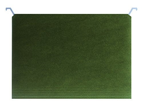 Find It Hanging File Folders with Innovative Top Rail, 9 Pt. Stock, Letter Size (8.5 x 11), Green, 20 per Pack (FT07033)