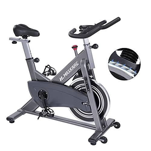 MaxKare Exercise Bike Indoor Cycling Stationary Bike with Magnetic Resistance,Quiet Belt Drive Bike with Large Cushioned Seat,40 LBS Flywheel,Up to 300 LBS Capacity For Home Cardio Workout Bike Training
