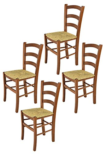 t m c s Tommychairs - Set 4 sillas Venice para Cocina y Comedor, Estructura en Madera de Haya Color