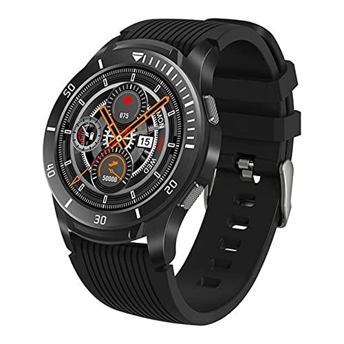 LG&S Pantalla Completa Toca Impermeable Deportes Smart Reloj Monitor De Ritmo Cardíaco Monitor De Llamadas Recordatorio Fitness Pulsera Hombres Mujeres Música Smartwatch para iOS Android,Negro
