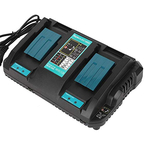 Battery Charger, Overheat Protection Double Lithium-ion Battery Charger, DC18RD with USB(British Standard 220-230V)