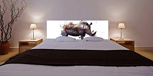 Tête de lit PVC Rhinocéros  100x60cm   Disponible en différentes Tailles   Tête de lit léger, élégant, résistant et économique