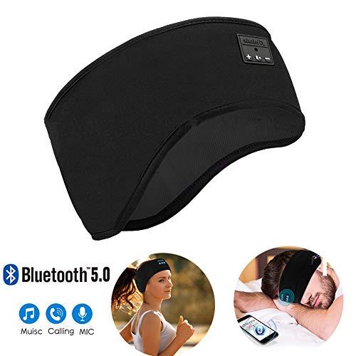 DZSF Oogmaskers Bluetooth Oortelefoon Draadloze Bluetooth 5.0 Oortelefoon Stereo Slaapmasker Verwijderbare Ondersteuning Handsfree Wasbare Slaap