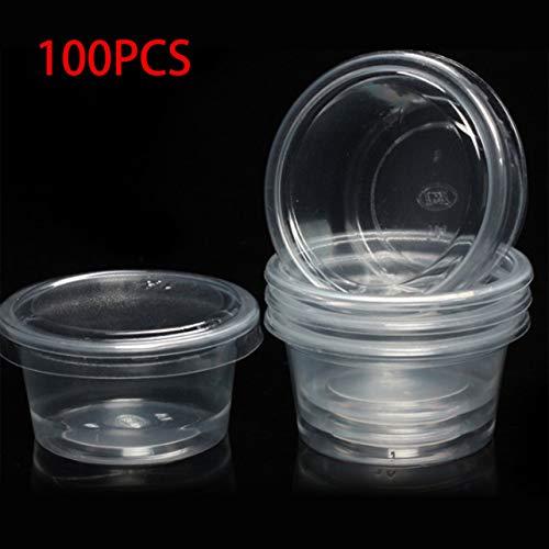 para aperitivos TOYANDONA 20 mini tazas de postre con tapas cuadradas transparentes desechables reutilizables de pl/ástico