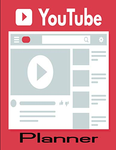 YouTube Planner: YouTube Planning Notebook with Video Checklist, 200 Pages, YouTube Creator Journal, Red Cover