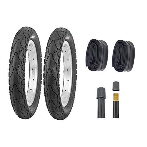 P4B | 2X 16 Zoll Reifen - 16 x 1.75 mit AV Schläuchen | 47-305 | Komfortabler Fahrradreifen mit Stollen an den Seiten für optimales Rollen auf Straßen, Schotter, Waldwege | OHNE FELGEN