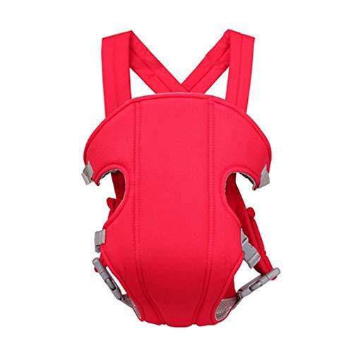 Volwco - Mochila portabebés para bebés y niños, Transpirable, ergonómica, para Todas Las Estaciones, portabebés Delantero y Trasero, Rojo